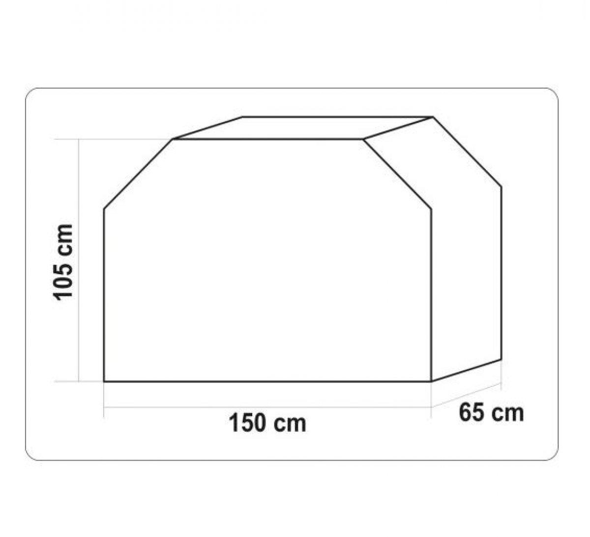 POKROWIEC NA GRILLA WODOODPORNY 150 X 65 X 105CM