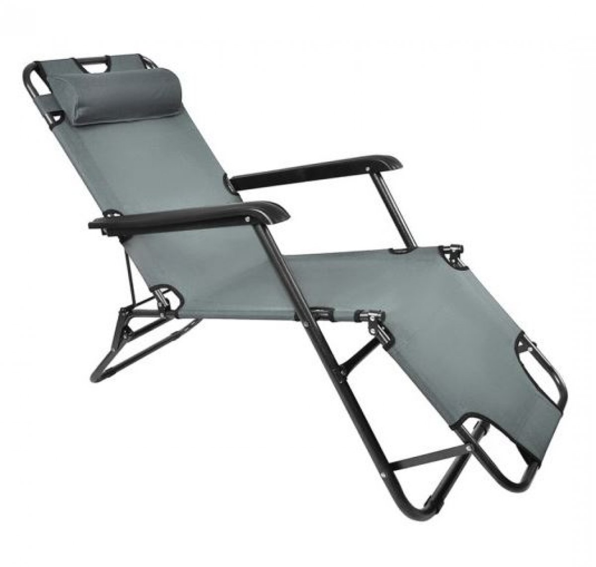 Leżak Składany Ogrodowy Fotel Plażowy 3 pozycje