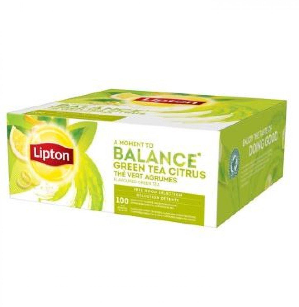 Zielona Herbata Lipton Green Tea Citrus 100 kopert