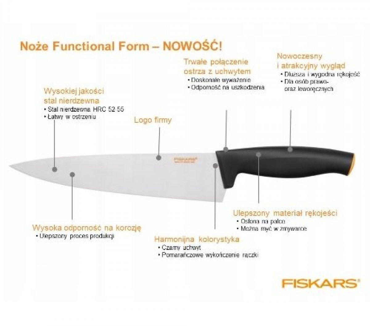 FISKARS Zestaw 5 noży w bloku