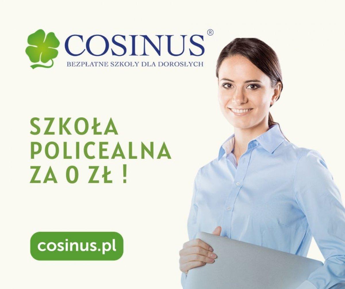 Bezpłatna Szkoła Policealna dla dorosłych Cosinus- zapisz się już dziś
