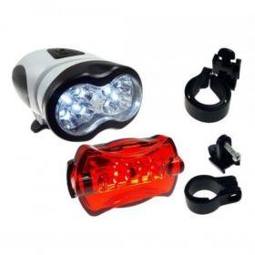 OŚWIETLENIE ROWEROWE LAMPKI ROWERU 10+5 LED ZESTAW