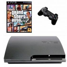 KONSOLA SONY PS3 SLIM PAD OKABLOWANIE + GTA V