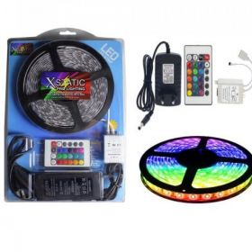 Zestaw TAŚMA RGB 300 LED SMD 5m + PILOT + ZASILACZ