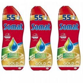 SOMAT Gold Anti-Grease Żel do zmywarki 3 x 990ml