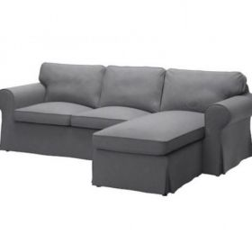 Szara kanapa sofa narożnik IKEA