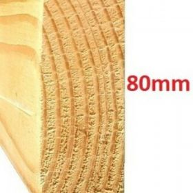 Łata poprzeczka  modrzewiowa  szlifowana , ścięta   200x3x8  cm