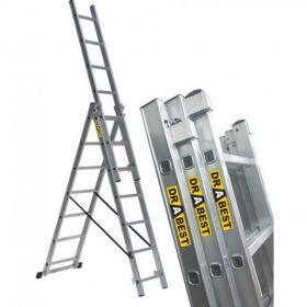 DRABINA ALUMINIOWA 3x10 DRABEST na schody