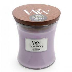 Lavender Spa Woodwick - średnia świeca zapachowa