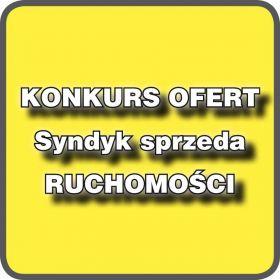 Biuro Syndyka ogłasza konkurs na sprzedaż ruchomości