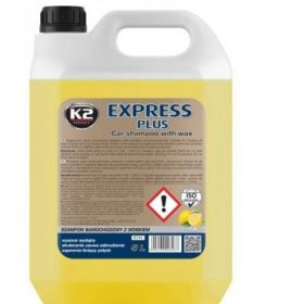 K2 EXPRES PLUS SZAMPON SAMOCHODOWY Z WOSKIEM 5L