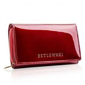 BETLEWSKI portfel damski skórzany duży lakierowany