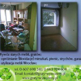 Wywóz starych mebli Wrocław,Likwidacja mieszkań Wrocław,opróżnianie