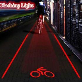 Migające światło tylne na rowerze 5 LED 2 Laser