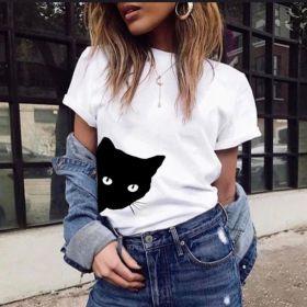 Cute Cat Printed Women T-Shirt