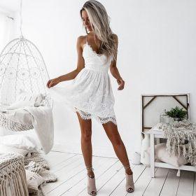 Krótka sukienka Sling bez rękawów Mini Dress Beach
