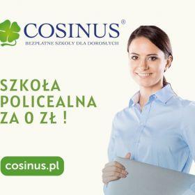 Bezpłatna Szkoła Policealna dla dorosłych Cosinus!