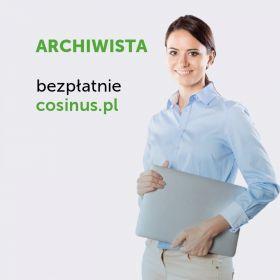 Technik Archiwista- kierunek dostepny za darmo w Cosinus!